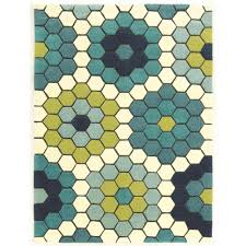 linon home decor le soleil tiles blue and green 8 ft x 10 ft