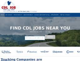 Access Jobs Cdlcareernow Com Cdl Jobs Truck Driver Jobs Find