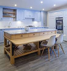 free standing kitchen cabinets. Island Unit With A Breakfast Bar From Woodstock Furniture, Which UsesFSC Certified Timber And Heats Free Standing Kitchen Cabinets