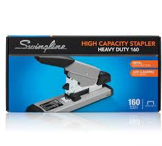 swingline 415 heavy duty stapler 160 sheets capacity 1 4 3 8 1 2 3 4 staple size gray swi39005 com