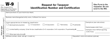 form w 9 request for taxpayer