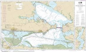 Noaa Chart Intracoastal Waterway Carlos Bay To Redfish Bay Including Copano Bay 11314