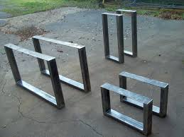 metal pedestal table base. Industrial Metal Table 2 Box Section Retro Steel Coffee Bench Legs Desk . Pedestal Base