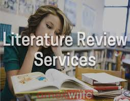 Literature review on services   How to properly write a college