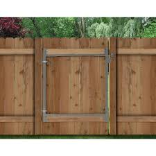 adjustagate consumer series 36 in72 in wide steel gate opening frame kitag 72 the home depot wood fence gate hardware e51 fence