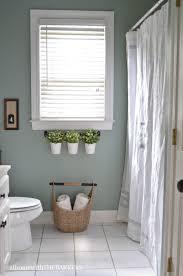 bathroom refresh:  behr marquee in green trellis bathroom refresh