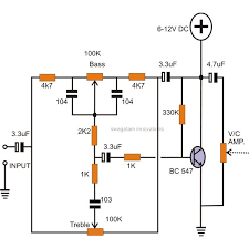 how to make tone controls for a stereo amplifier active tone control circuit using transistor image