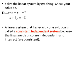 5 solve the linear system by graphing check your solution
