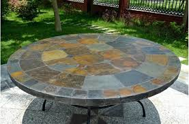round outdoor table top. Round Outdoor Table Top Slate Stone Patio Dining Ideas
