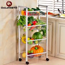 get quotations duo laini kitchen racks space aluminum four mobile fruit vegetable storage rack storage rack shelf floor