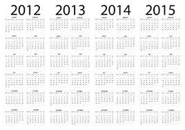 Calendar 2013 Template Set Of 2013 2018 Calendars Template Vector Graphic 01 Free