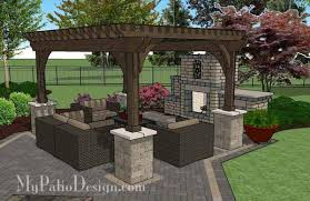 Courtyard Paver Patio Design with Pergola Fireplace Download