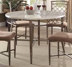 adalgar casual 45 round grey faux marble dining table w metal accent base