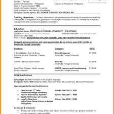 Sample Of The Latest Resume Format Unique Samples Sevte