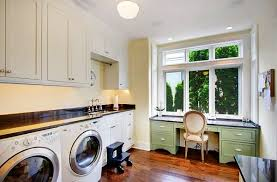 Bright Modern Laundry Room  A