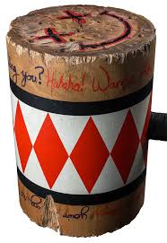 harley quinn wooden mallet replica close up