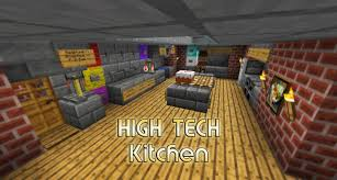 Kitchen For Minecraft High Tech Kitchen House Small And Easy Minecraft Project