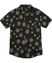Patterned Button Up Shirts Cool Fireworks Pelletier Printed ButtonUp Shirt RVCA