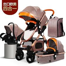 Baby Stroller 4 in 1 with Car Seat For Newborn High View Pram Folding Carriage Travel System carrinho de bebe 3 em