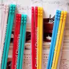 <b>2 Pairs</b> Korean Cordwood <b>Chopsticks</b> Candy Color Lego Bricks ...