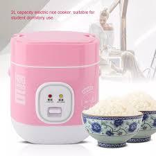 Bếp Điện Mini Màu Hồng 1,2 L Nồi Cơm Điện Dùng Cho Ký Túc Xá Gia Đình Phích  Cắm Trung Quốc 220V