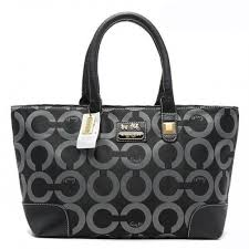 Coach Madison In Signature Large Grey Totes AQK