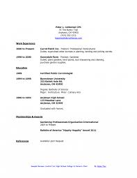 High School Resume For College Examples Student Format Download
