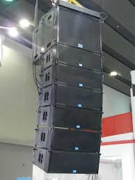concert speakers system. pa speaker system two-way dual 8 inch line array for concert event 5 speakers p