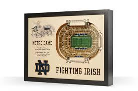 Notre Dame Fighting Irish Notre Dame Stadium 3d Wood Stadium Replica 3d Wood Maps Bella Maps