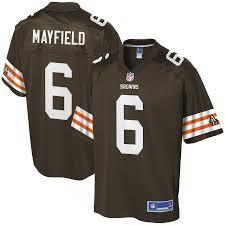 Men's Jersey Brown Player Browns Mayfield Nfl Pro Historic Baker Line Cleveland Logo