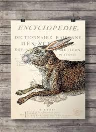 vine quirky rabbit dictionary book page art print digital printable art print