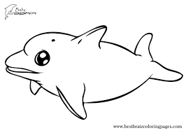 Baby Dolphin Coloring Pages Getcoloringpagescom