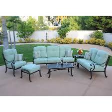 athena cast aluminum outdoor patio lounge set