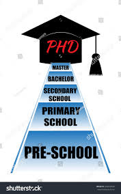 Phd Degree Educational Stages That Person Have Get Stock Vector Royalty Free