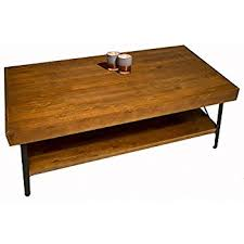 Solid Wood Coffee And Cocktail Table   Solid Wood Top   Sturdy Metal Frame    Distressed