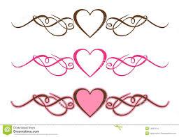 Heart Scrolls Hearts Scrolls Stock Vector Illustration Of Black Shape 14097515