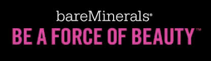 bare minerals logo. just the tagline: be a force of beauty bare minerals logo