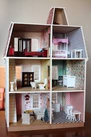 diy dollhouse furniture. Build A DIY Dollhouse From Hobby Lobby. Wallpaper Is Scrapbook Paper. Furniture Also Diy