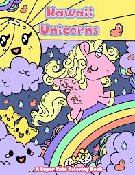 Amazoncom Kawaii Unicorns A Super Cute Coloring Book Kawaii