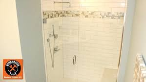 how to build a subway tile shower