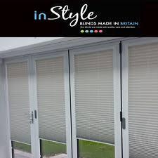 door blinds. Perfect Fit Bi-Fold Pleated Door Blinds