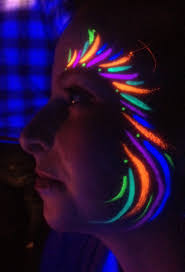 feather glow in the dark uv face paint