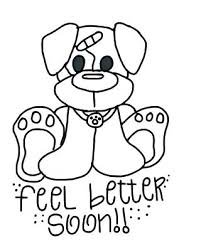 Hope You Feel Better Coloring Pages Top Free Printable Get Well Soon
