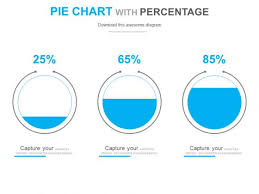 Chart To Show Percentage Increase Circle Chart With Increasing Percentage Values Powerpoint