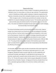Australia Essay Australian Superannuation Essay 200077 The