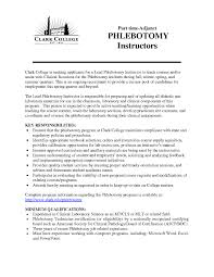 Phlebotomy Technician Resume Phlebotomist Resume Examples Phlebotomist Cover Letter No Experience 20