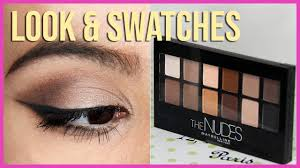 <b>Maybelline</b> The <b>Nudes Palette</b> | tutorial, swatches, review - YouTube