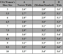 Cheap Clothing Stores Size Chart For Women Shoes