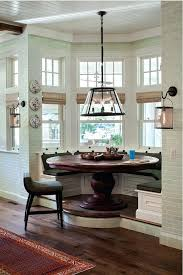breakfast nook table breakfast nook with chandelier and round wood table and laminate flooring breakfast nook