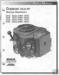 kohler engine parts manual for m18 m20 tp 2233 c new 10 95 parts manual kohler engine cv18 cv20 cv22 cv25 tp 2461